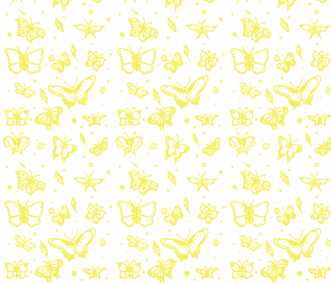 butterflies yellow fabric by sequingirlie on Spoonflower - custom fabric