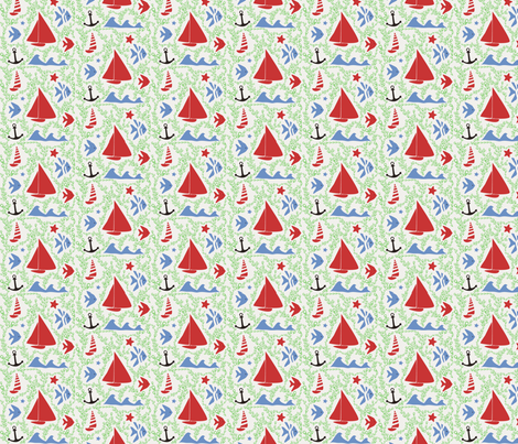 pattern_silver fabric by rebecca22 on Spoonflower - custom fabric