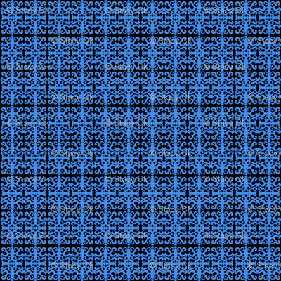 SCK Blue Damask pattern