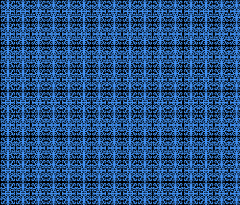 SCK Blue Damask pattern fabric by stacyck on Spoonflower - custom fabric