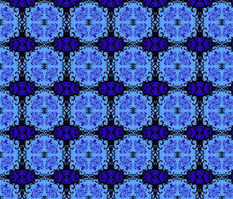 SCK Damask blue night fabric by stacyck on Spoonflower - custom fabric