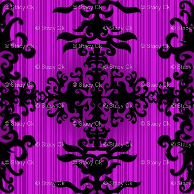 SCK Damask purple night