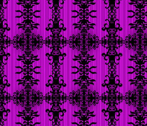 SCK Damask purple night fabric by stacyck on Spoonflower - custom fabric