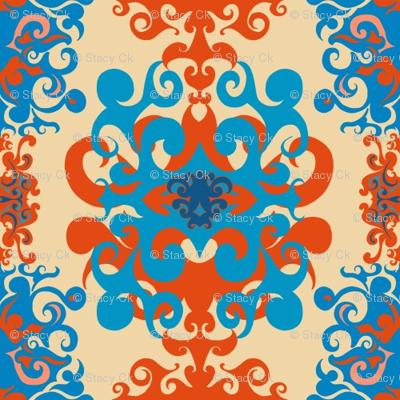 SCK Damask - Tuscany colors