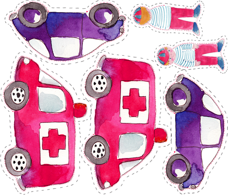 doudou voiture v2 fabric by nadja_petremand on Spoonflower - custom fabric
