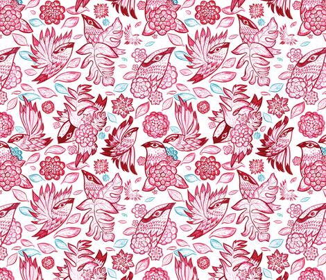 Windy Birds fabric by chad_grohman on Spoonflower - custom fabric
