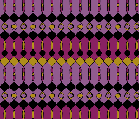 Busy Summer Purple fabric by sbd on Spoonflower - custom fabric