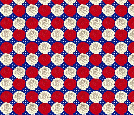 Patriotic_Rose fabric by cksstudio80 on Spoonflower - custom fabric