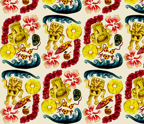 A Tiki Celebration fabric by lulakiti on Spoonflower - custom fabric