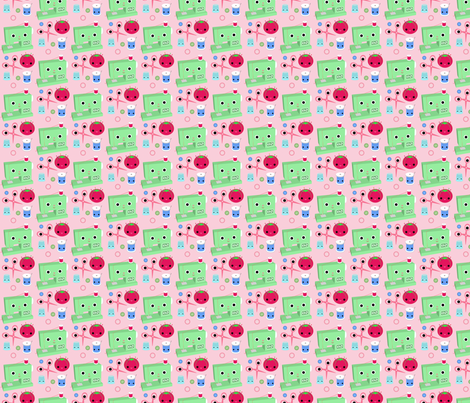 Happy Sewing Friends fabric by fantastictoys on Spoonflower - custom fabric