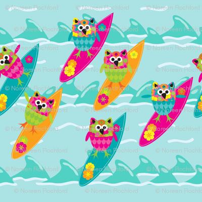 Tiki_Owls_Go_Surfing