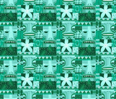 Tiki Repeat fabric by smalltalk on Spoonflower - custom fabric