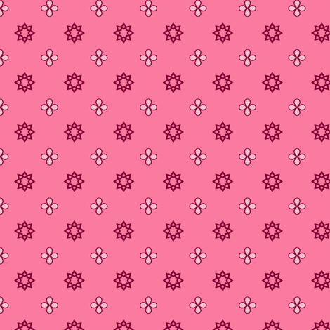 Starry Petals - Fairy-Floss Pink fabric by inscribed_here on Spoonflower - custom fabric