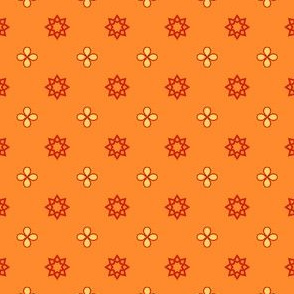 Starry Petals - Polly Orange