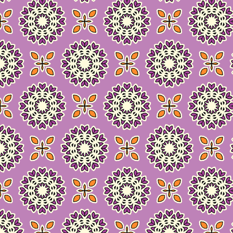 Full Bloom - Amethyst fabric by inscribed_here on Spoonflower - custom fabric