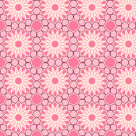Rock Daisies - Fairy-Floss Pink fabric by inscribed_here on Spoonflower - custom fabric