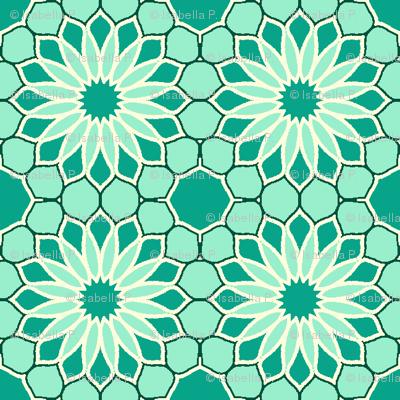 Rock Daisies - Mint Green
