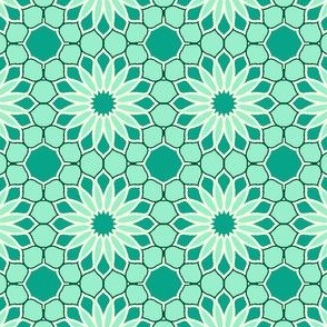 Rock Daisies - Mint Green