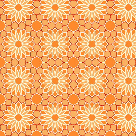 Rock Daisies - Polly fabric by inscribed_here on Spoonflower - custom fabric