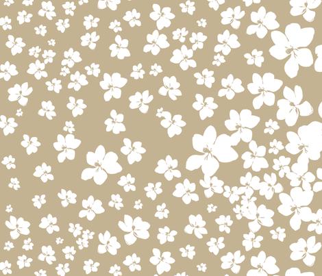 Magnolia Little Gem - Creme Caramel - 1 yard panel fabric by kristopherk on Spoonflower - custom fabric