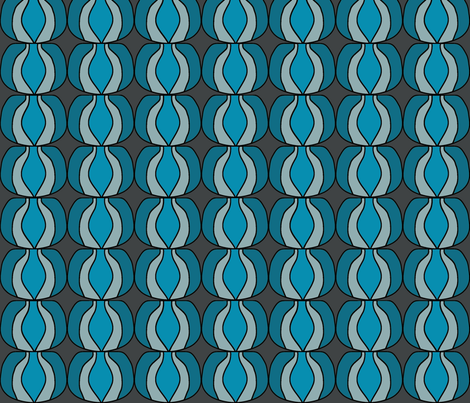 I LuvOlive Blue fabric by sbd on Spoonflower - custom fabric
