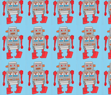 Roger the Red Robot fabric by tara_scholes on Spoonflower - custom fabric