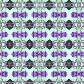 Aquamarine fandango blanket