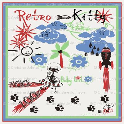 Retro Kitty / SCARF