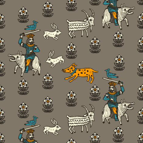 sikaritari fabric by ruusulampi on Spoonflower - custom fabric