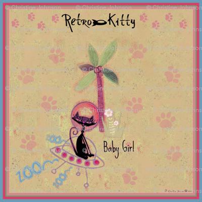 Retro Kitty / Paws Scarf