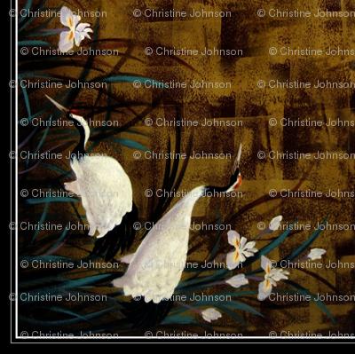"""Orchids ,Cranes 36"""""""