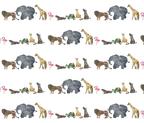 Zoo Parade fabric by dp on Spoonflower - custom fabric