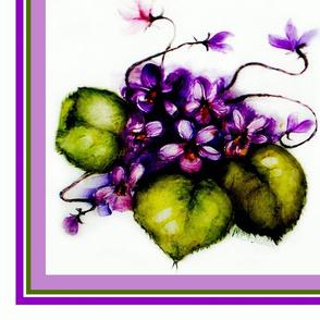"""Violets Scarf 36"""""""