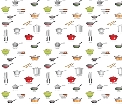 Get Cookin' fabric by pattysloniger on Spoonflower - custom fabric