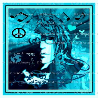 """JOHN - 18"""" PEACE & LOVE"""