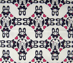 Bunny Squee Fabric - Ring Around A Rosie