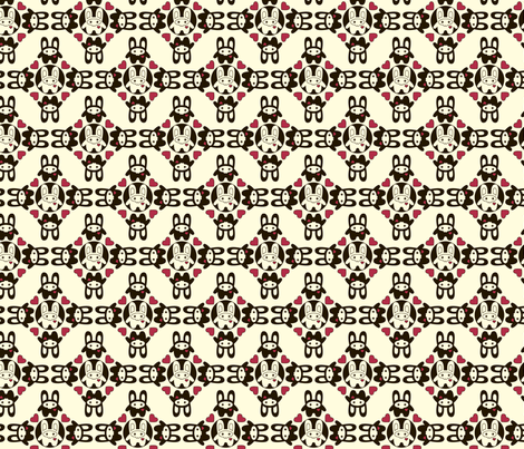 Bunny Squee Fabric - Ring Around A Rosie fabric by voodoorabbit on Spoonflower - custom fabric