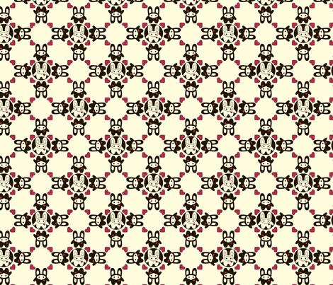 Bunny Squee Fabric - Diamond Hearts fabric by voodoorabbit on Spoonflower - custom fabric