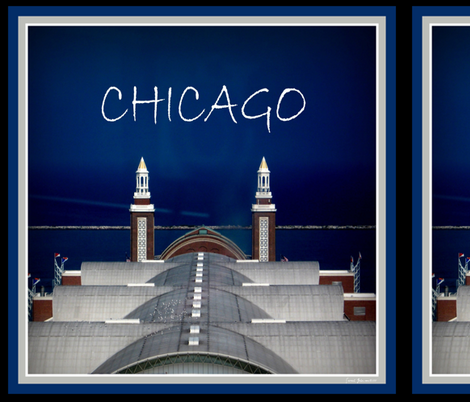 "CHICAGO PIER- 18"" SCARF fabric by paragonstudios on Spoonflower - custom fabric"