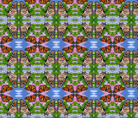 monarchs fabric by mjw23 on Spoonflower - custom fabric