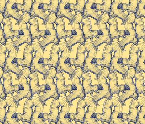 Yellow Catapillars fabric by artbybaha on Spoonflower - custom fabric