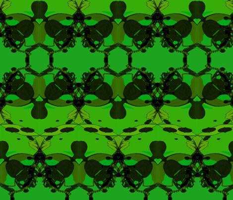 Green Ladybugs fabric by artbybaha on Spoonflower - custom fabric