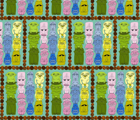 Little Boxes Made of Tiki (Tacky!) fabric by ceanirminger on Spoonflower - custom fabric