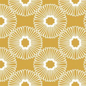 Flower - Mustard - Reverse - large scale