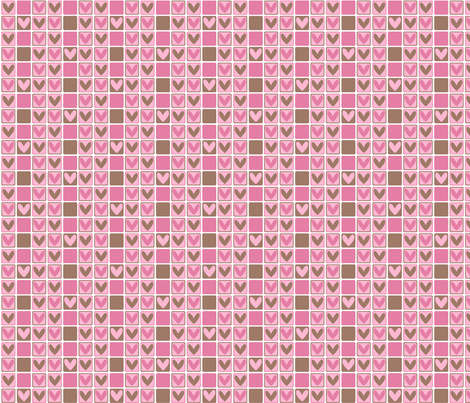 Sweet hearts fabric by delsie on Spoonflower - custom fabric