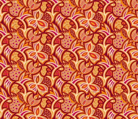 hiding_birds4 fabric by jorz on Spoonflower - custom fabric