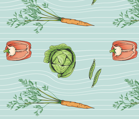 Vintage Vegetables! fabric by pattysloniger on Spoonflower - custom fabric