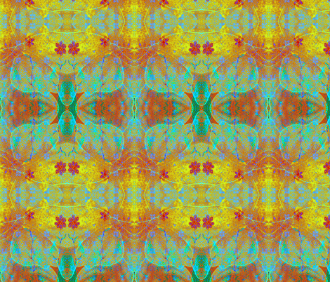 Magical Carpet 1 aztec rad plaid fabric by jan4insight on Spoonflower - custom fabric