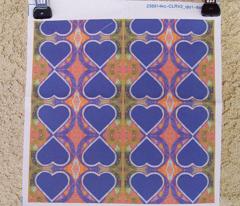 Blue Heart rad plaid
