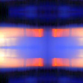Abstract Sunset rad plaid